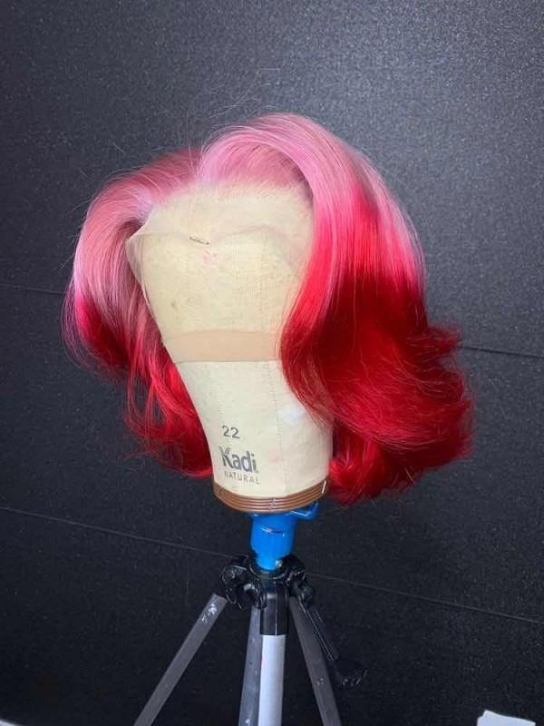 Red / Pink Bob - Belle Noir Beauty