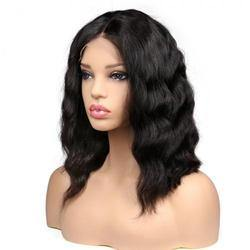 10a Grade Full Lace Wavy Bob Hair Wig - Belle Noir Beauty (product_title) (product_type)
