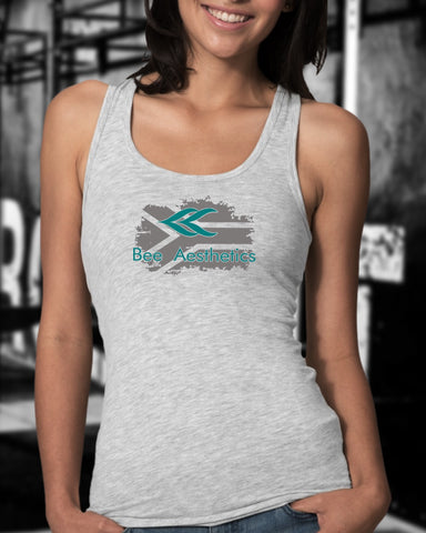 Ladies Grey SA Flag Turquoise