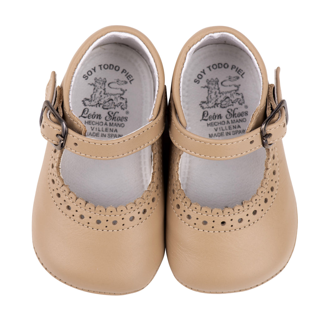 Camel Mary Jane Pram Shoes
