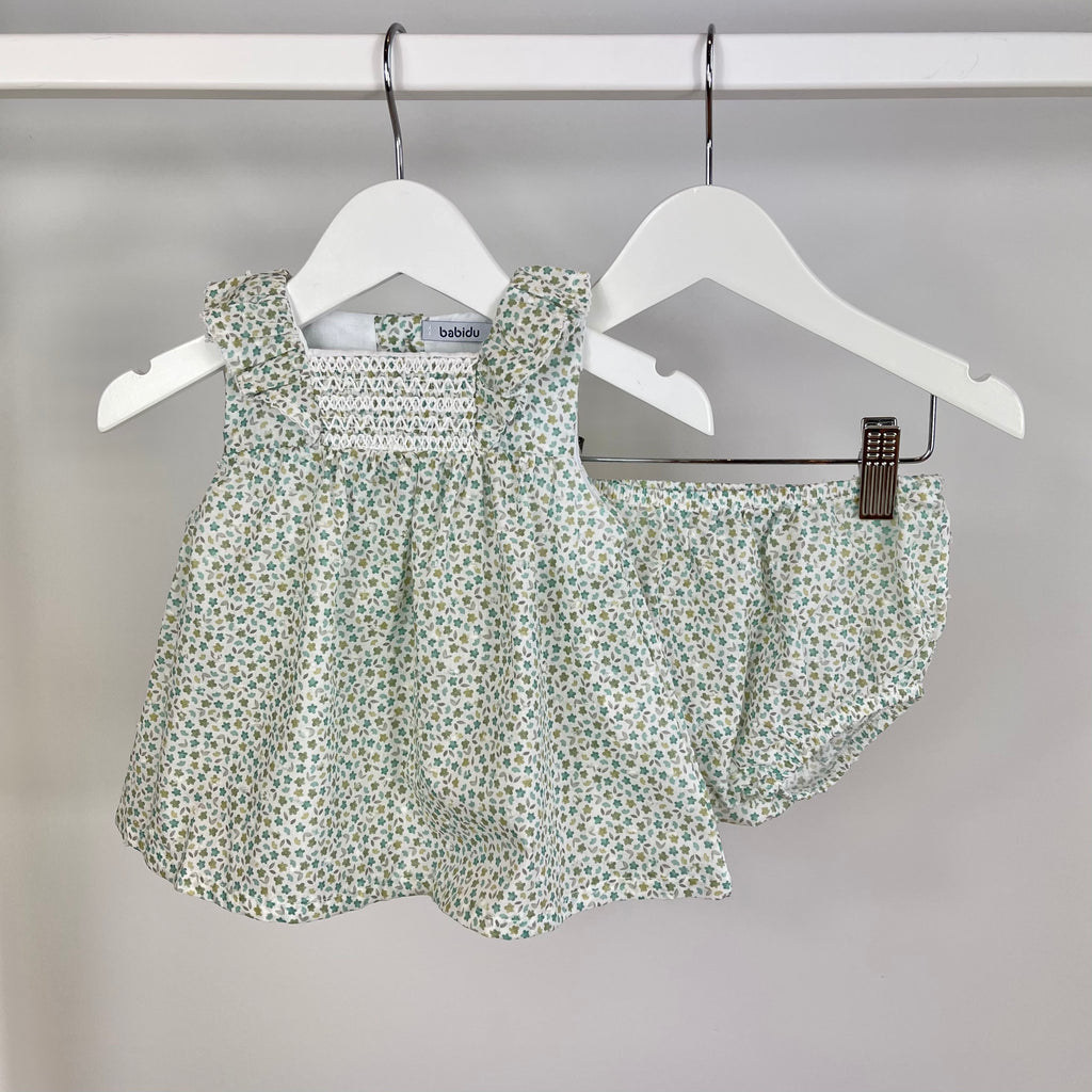 Green Ditsy Two Piece