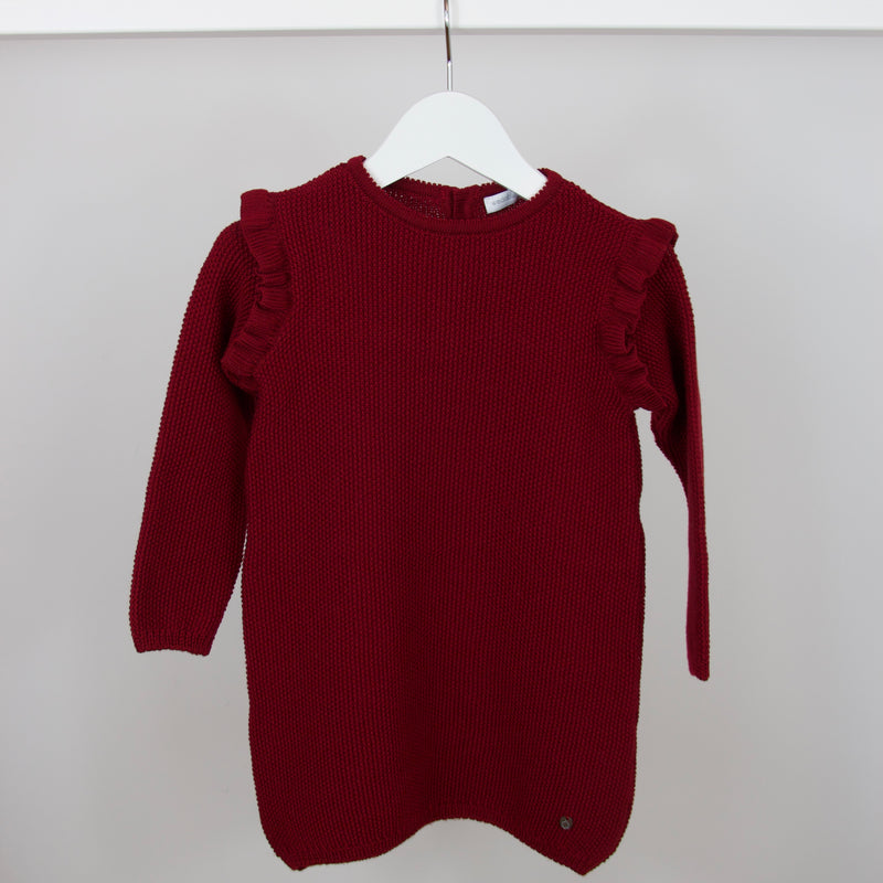 Maroon Knit Dress