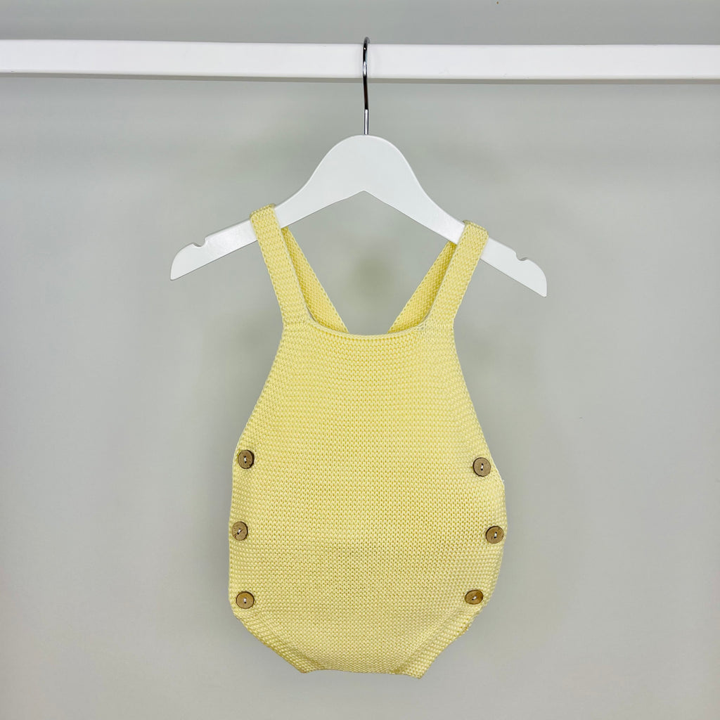 Lemon Knit Romper