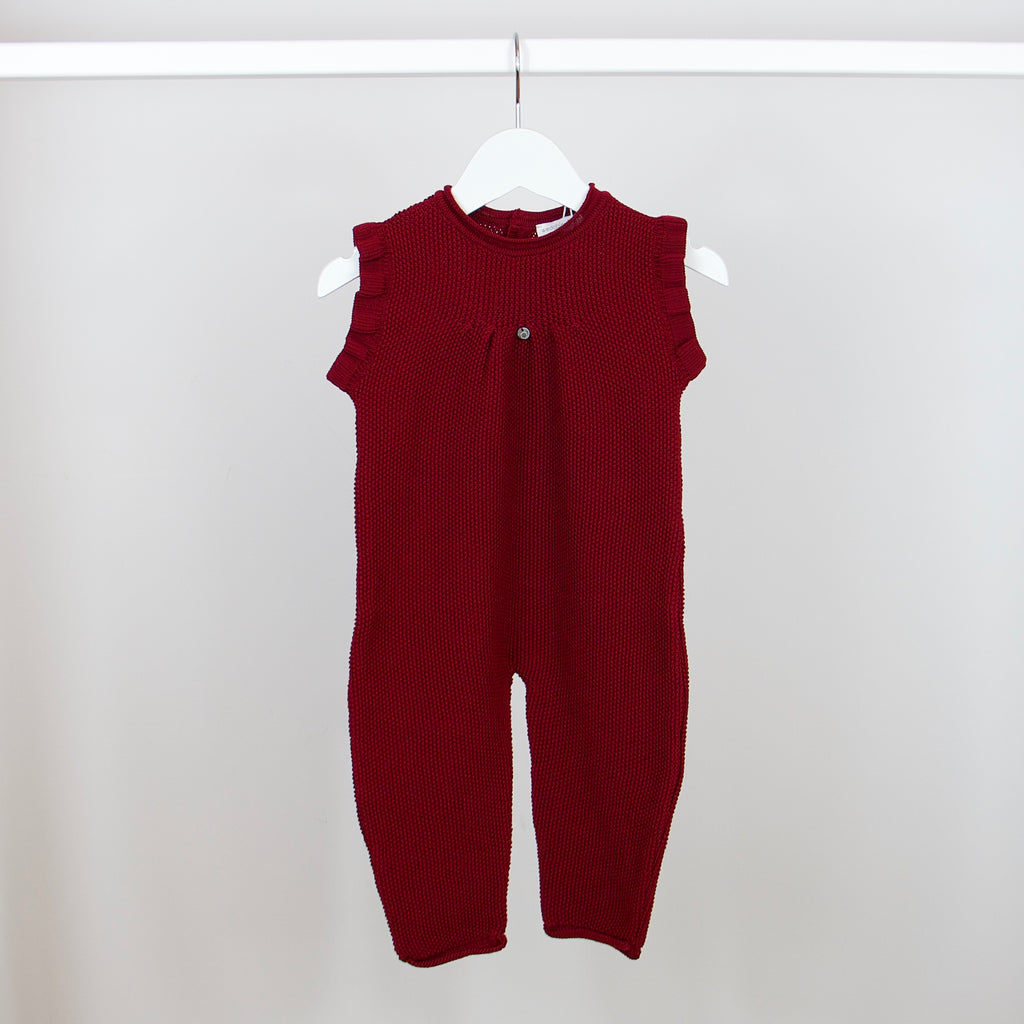 Maroon Knit Jumpsuit