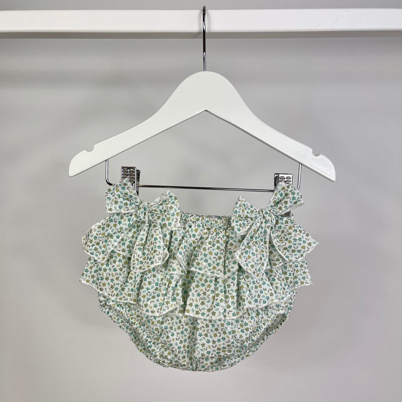 Green Ditsy Print Bloomers
