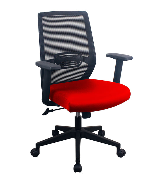 PAVIA | Red Task Chair w/ Mesh Back