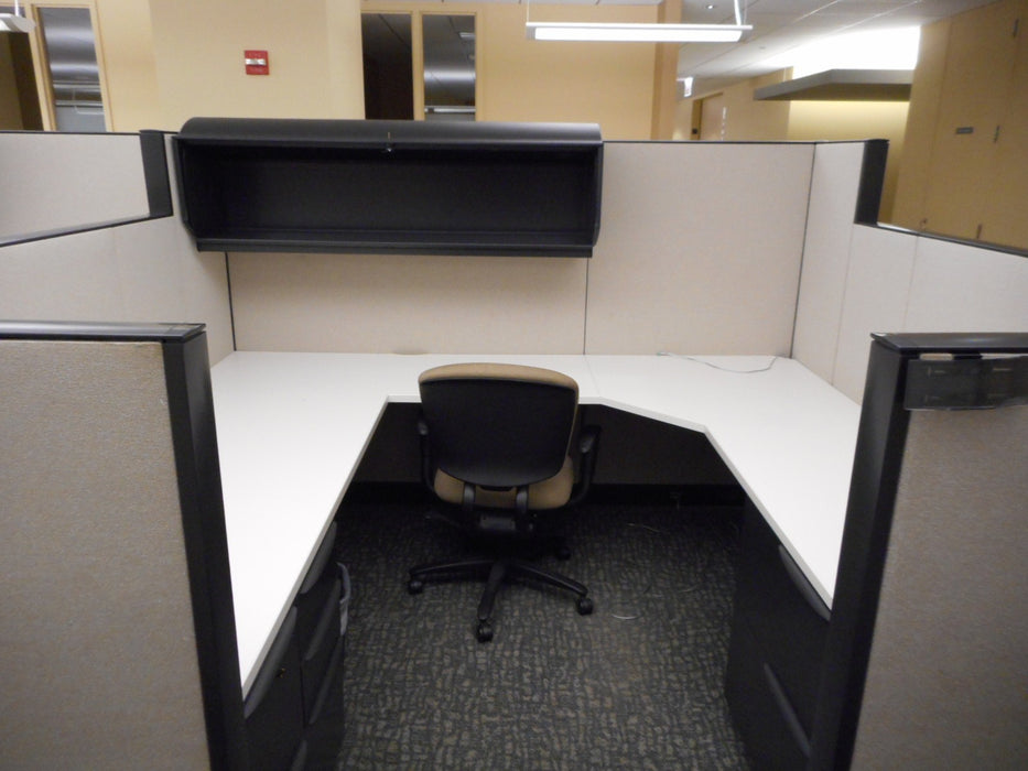 "Pre Owned Cubicle | 6'x7.5' Haworth - 53""/67""H"