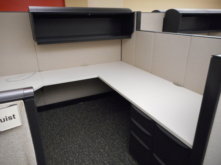 "Pre Owned Cubicle | 8'x7.5' Haworth -53""/67""H"