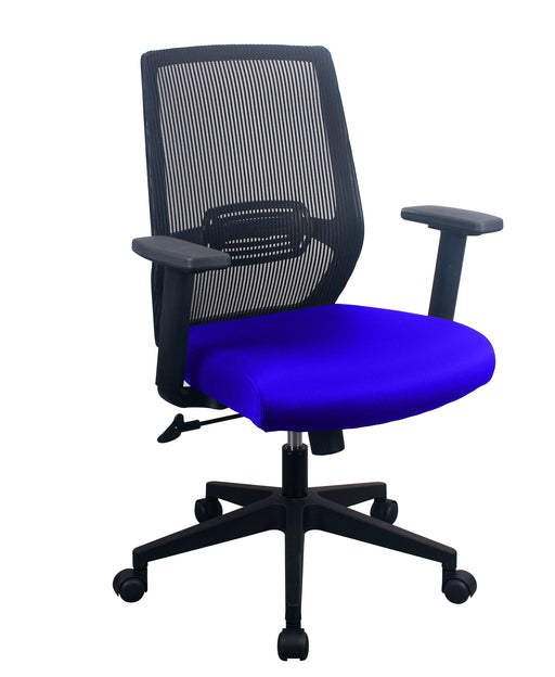 PAVIA | Blue Task Chair w/ Mesh Back