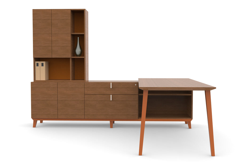 Camilla | L-Shaped Desk & Storage Set