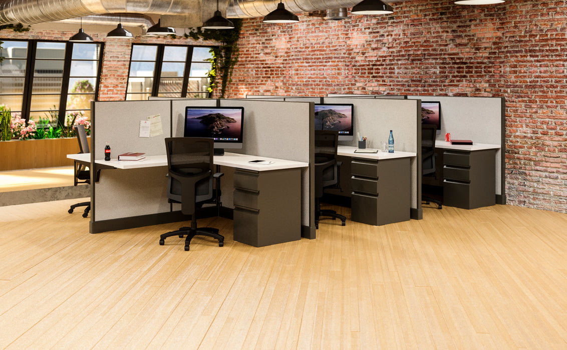 modern 5x5 office cubicle