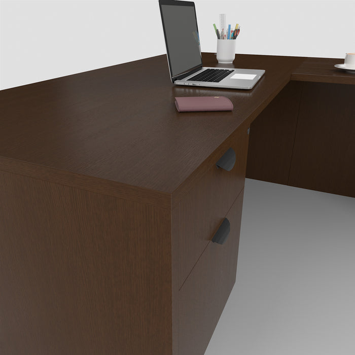 "Carmel | 30""x66"" L-Shaped Desk with Suspended Pedestals"