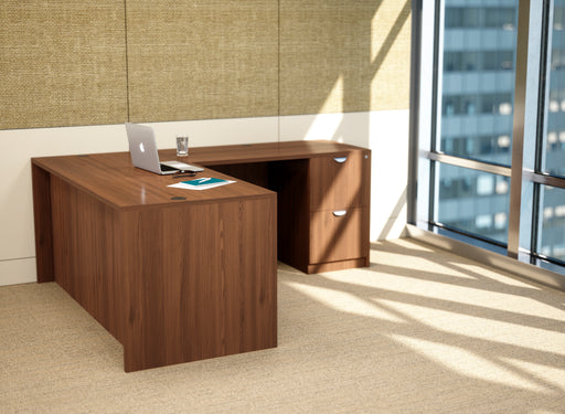 "Bellagio Walnut  | L-Shaped Desk | 30""x66"""