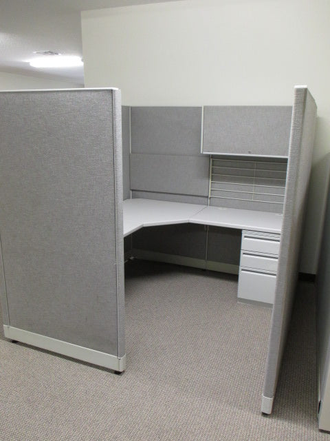 pre owned cubicles gray freedmans office furniture