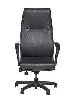 Linate Highback Executive Chair Black Leather