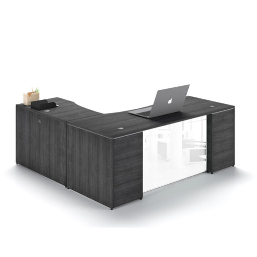 "Santa Monica | L-Shaped Desk with 48"" Return"