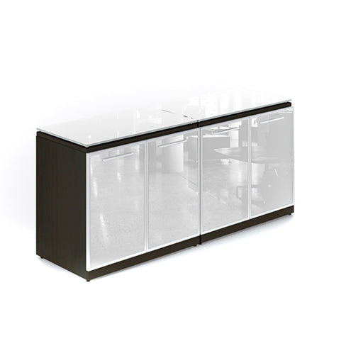 Santa Monica credenza with glass doors