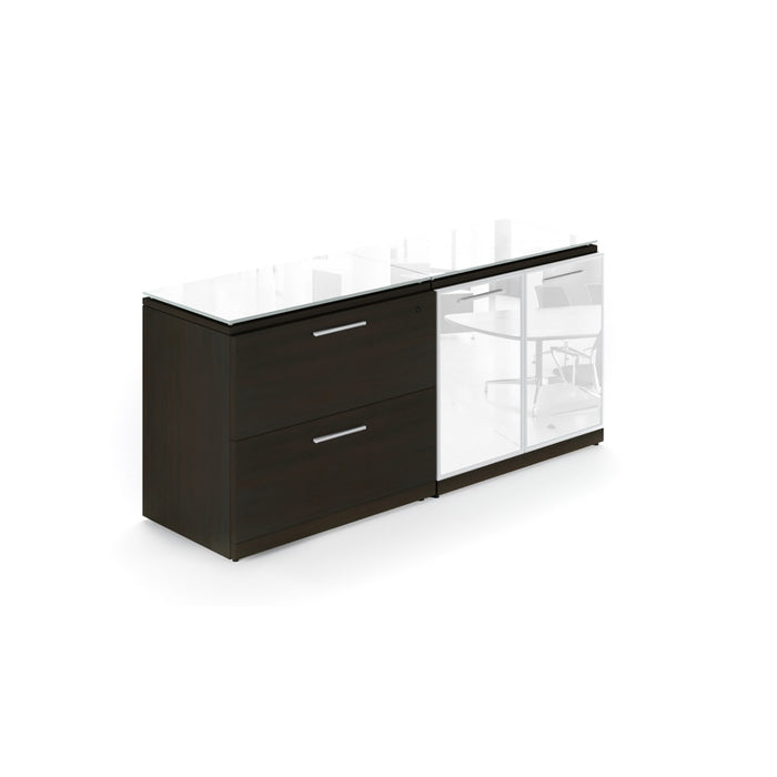 Santa Monica | Lateral File/Storage Cabinet with Glass Tops