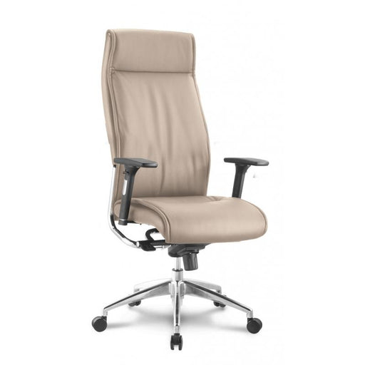 Chair - Altitude |  High Back Executive | Sand Leather Chair