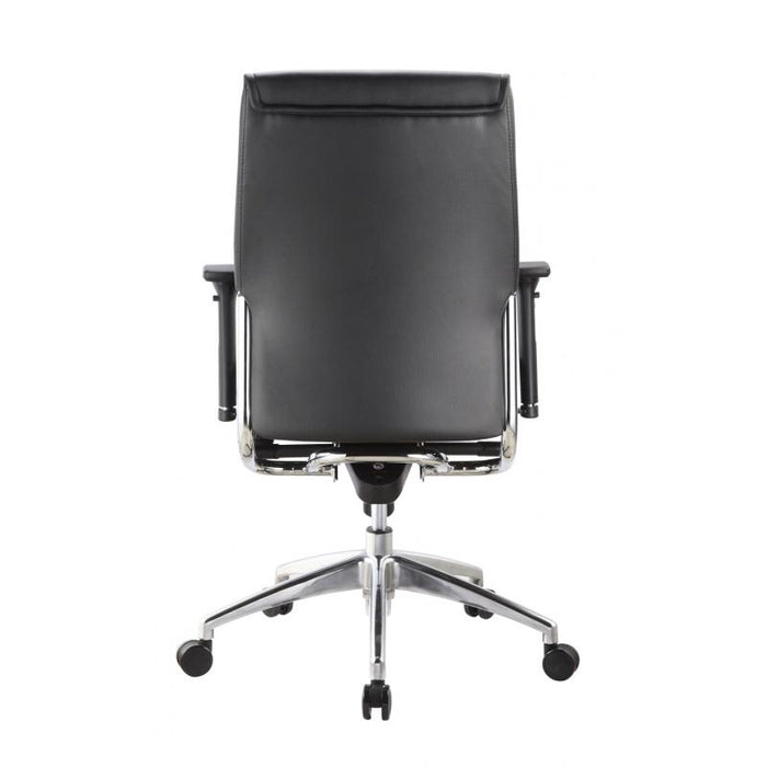 Chair - Altitude | Mid Back Executive | Black Leather Chair