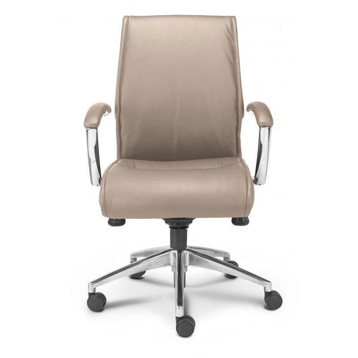 Chair - Altitude | Mid Back Executive | Sand Leather Chair