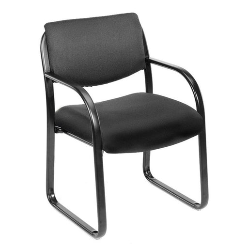 Chair - Bastia | Black Fabric Guest Chair