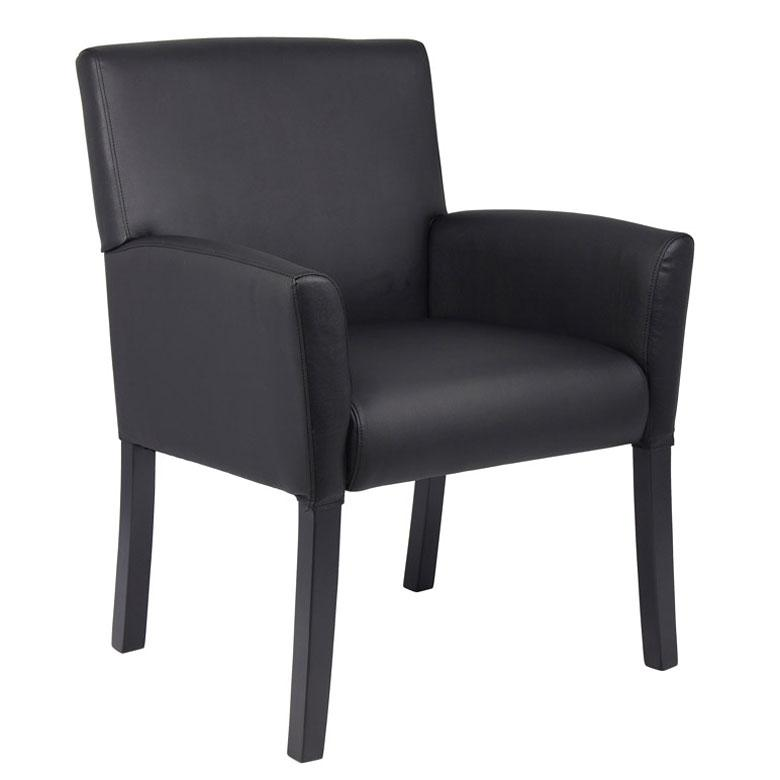 Chair - Bastia | Executive Box Arm Chair With Black Legs
