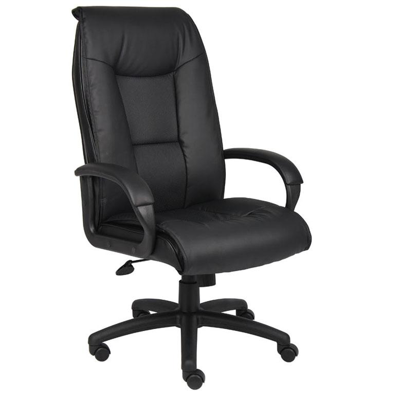 Chair - Bastia | Executive Leather Plus Chair With Padded Arms