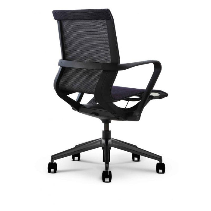 Chair - Bella | High Profile Mid Back Mesh Chair | W/ Black Nylon Frame
