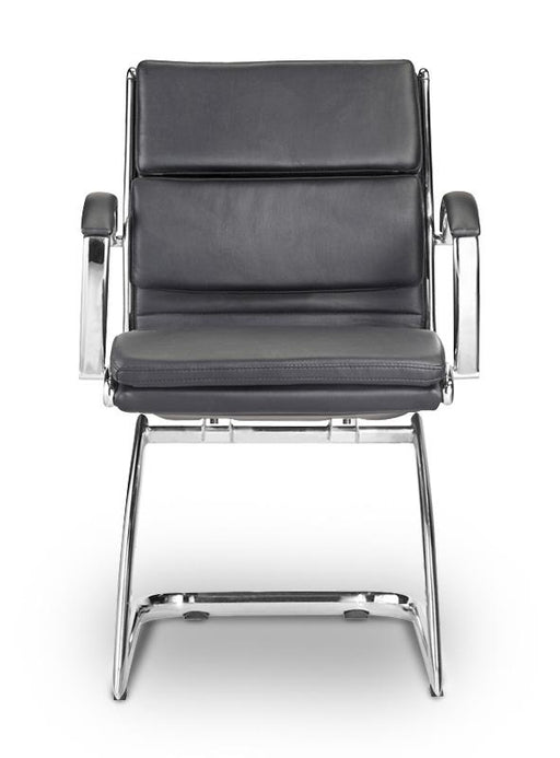 Chair - Ivello  |  Guest Chair  |  Black Leather