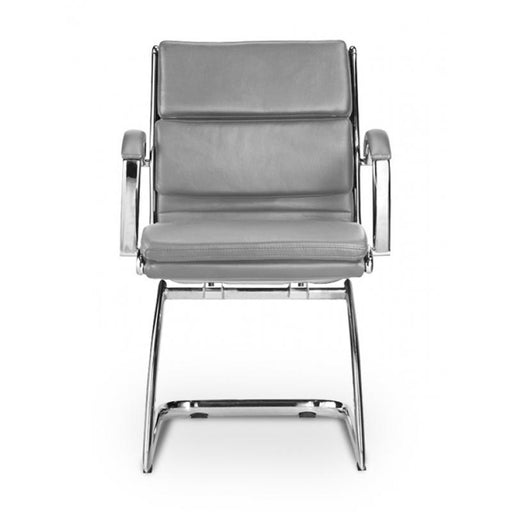 Chair - Ivello | Guest Chair | Grey Leather