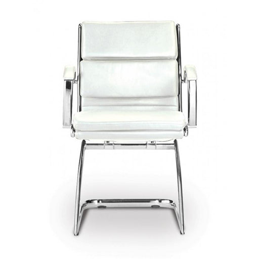Chair - Ivello | Guest Chair | White Leather