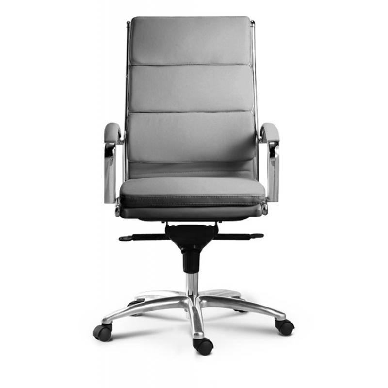 Chair - Ivello | High Back Executive Chair | Grey Leather