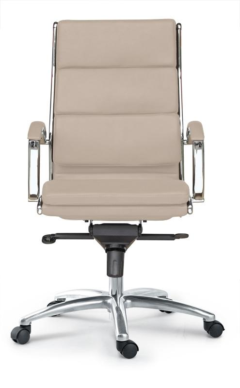 Chair - Ivello | High Back Executive Chair | Sand Leather