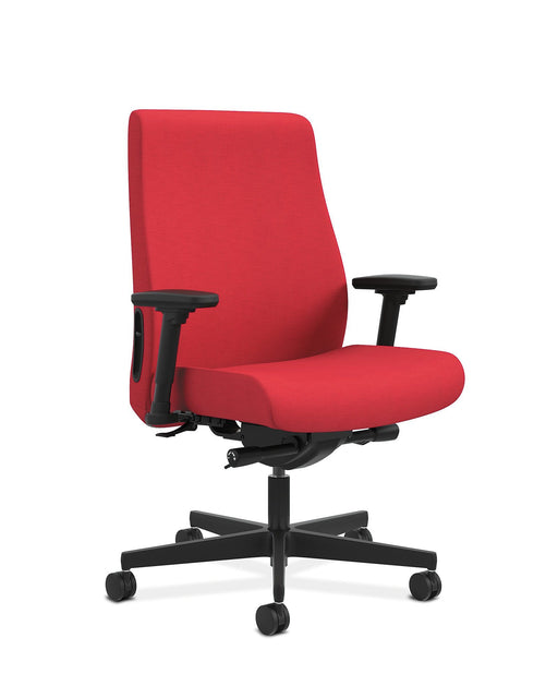 Chair - Mid-Back Task Chair | Big And Tall | Fabric Outer Back | Built-In Lumbar