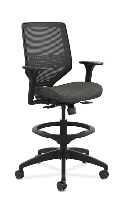 Chair - Mid-Back Task Stool With Knit Mesh Back