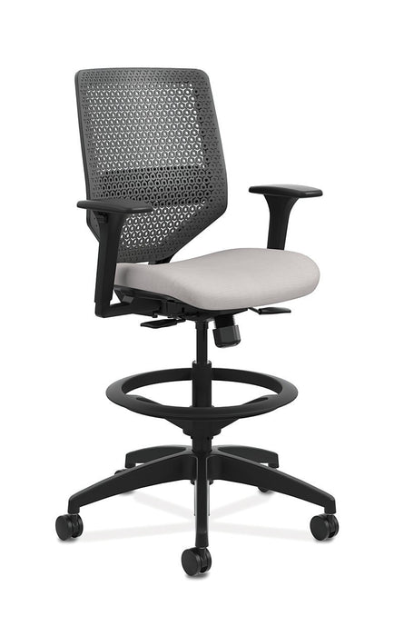 Chair - Mid-Back Task Stool With ReActiv Back
