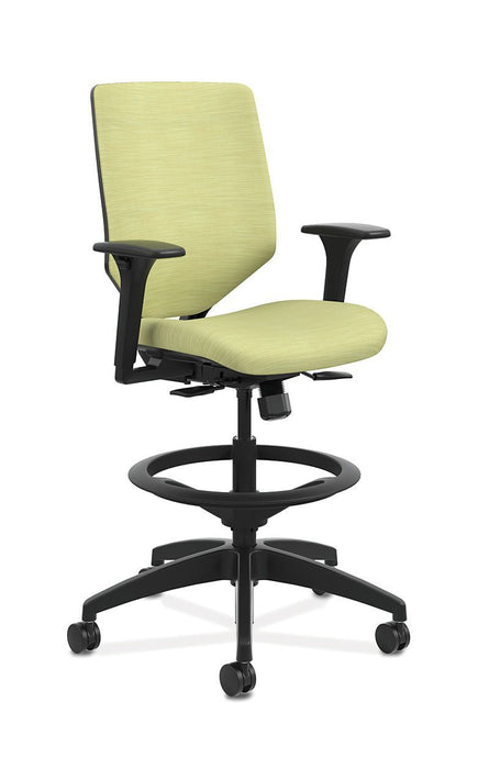 Chair - Mid-Back Task Stool With Upholstered ReActiv Back