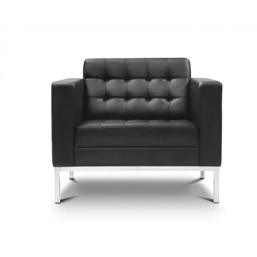 Chair - Pasadena |  Lounge Chair  |  Black Leather