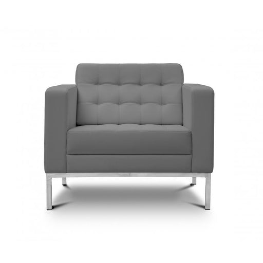 Chair - Pasadena | Lounge Chair | Grey Leather