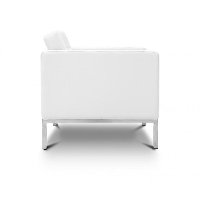 Chair - Pasadena | Lounge Chair | White Leather