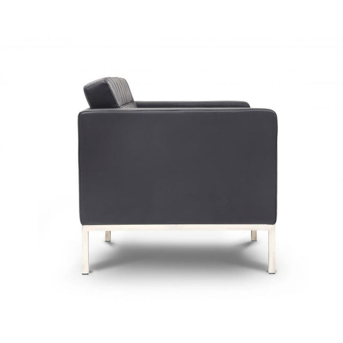 Chair - Pasadena | Love Seat |  Black Leather