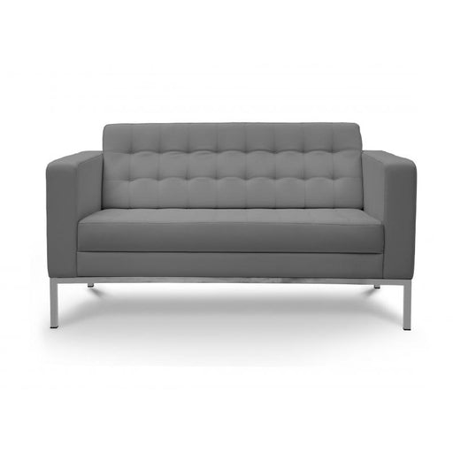 Chair - Pasadena  | Love Seat  | Grey Leather