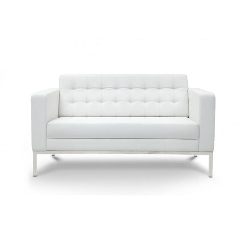Chair - Pasadena | Love Seat | White Leather
