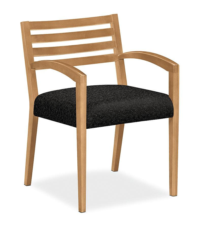 Chair - Wood Slat Back Guest Chair