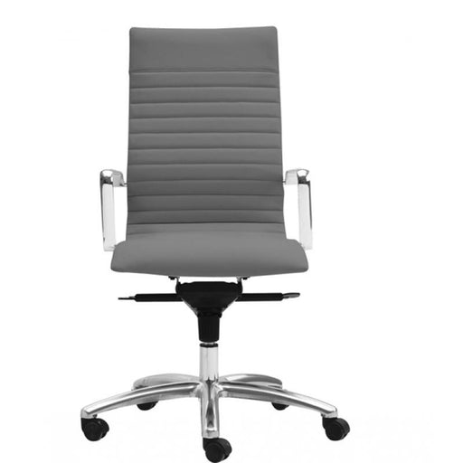 Chair - Zatto | High Back Executive Chair | Grey Leather