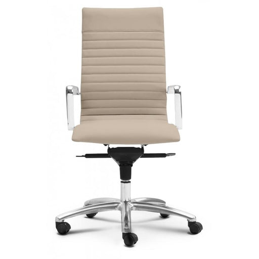 Chair - Zatto | High Back Executive Chair | Sand Leather