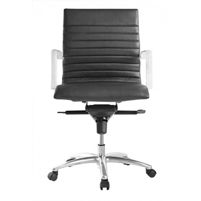 Chair - Zatto | Mid Back Executive Chair | Black Leather