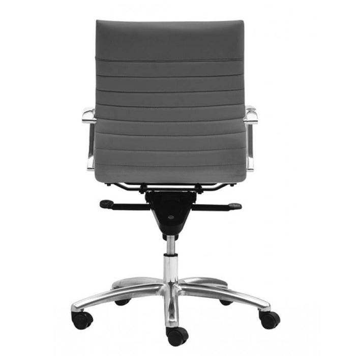 Chair - Zatto | Mid Back Executive Chair | Grey Leather
