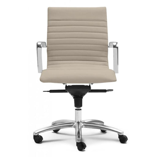 Chair - Zatto | Mid Back Executive Chair | Sand Leather
